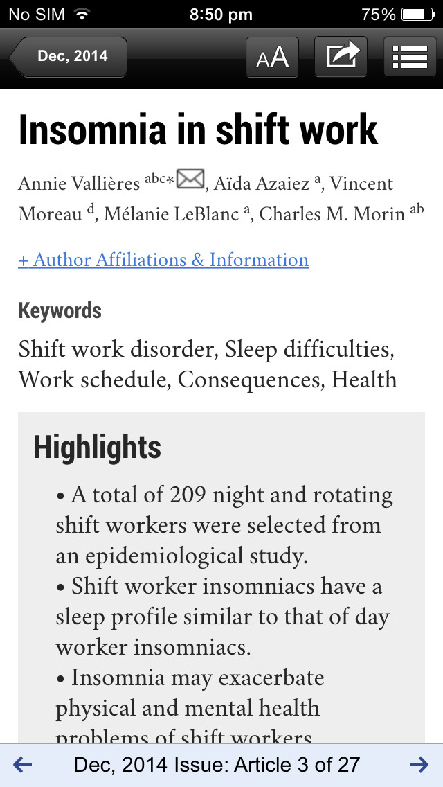 Sleep Medicine Journals screenshot 3