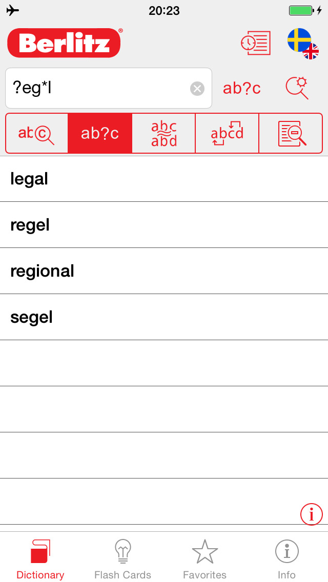 Swedish - English Berlitz Essential Dictionary screenshot 4