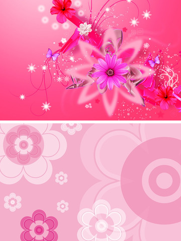 Cute Girly Wallpapers - Pink & Floral Pictures HD screenshot 10