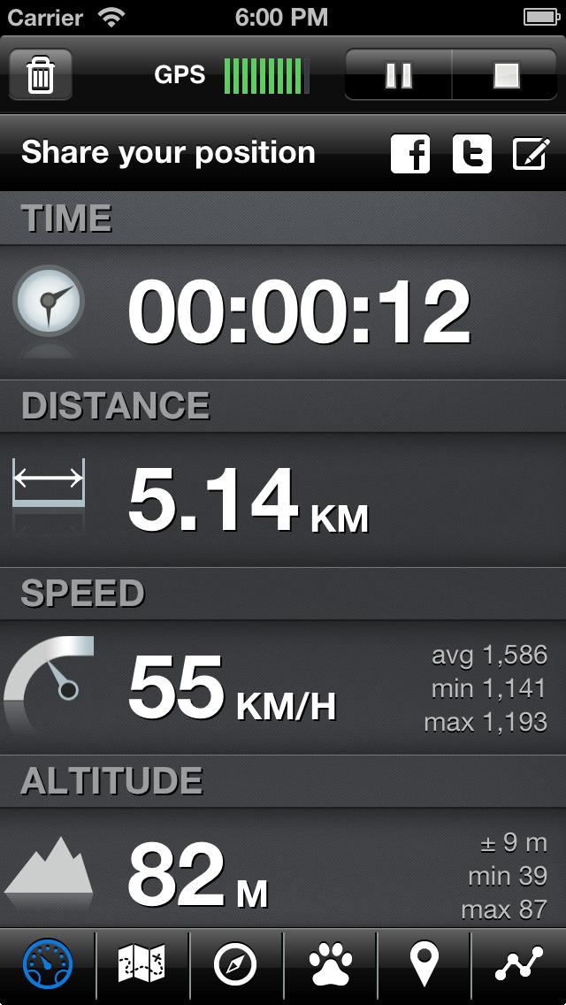 EasyTrails GPS screenshot 2