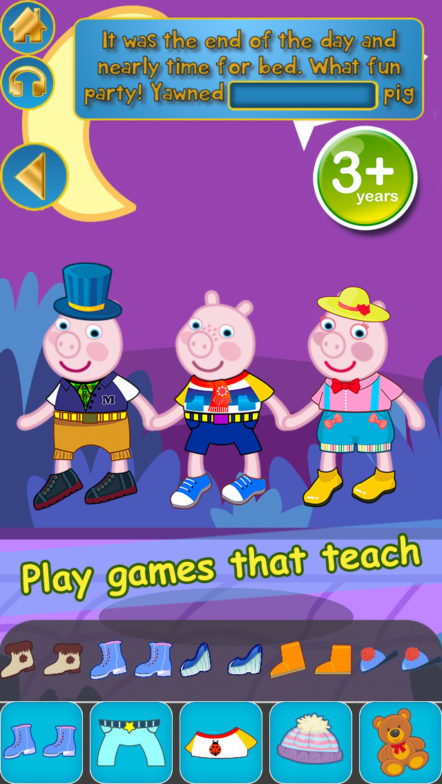My Interactive Happy Little Pig Story Book Dress Up Time Game - Advert Free App screenshot 4