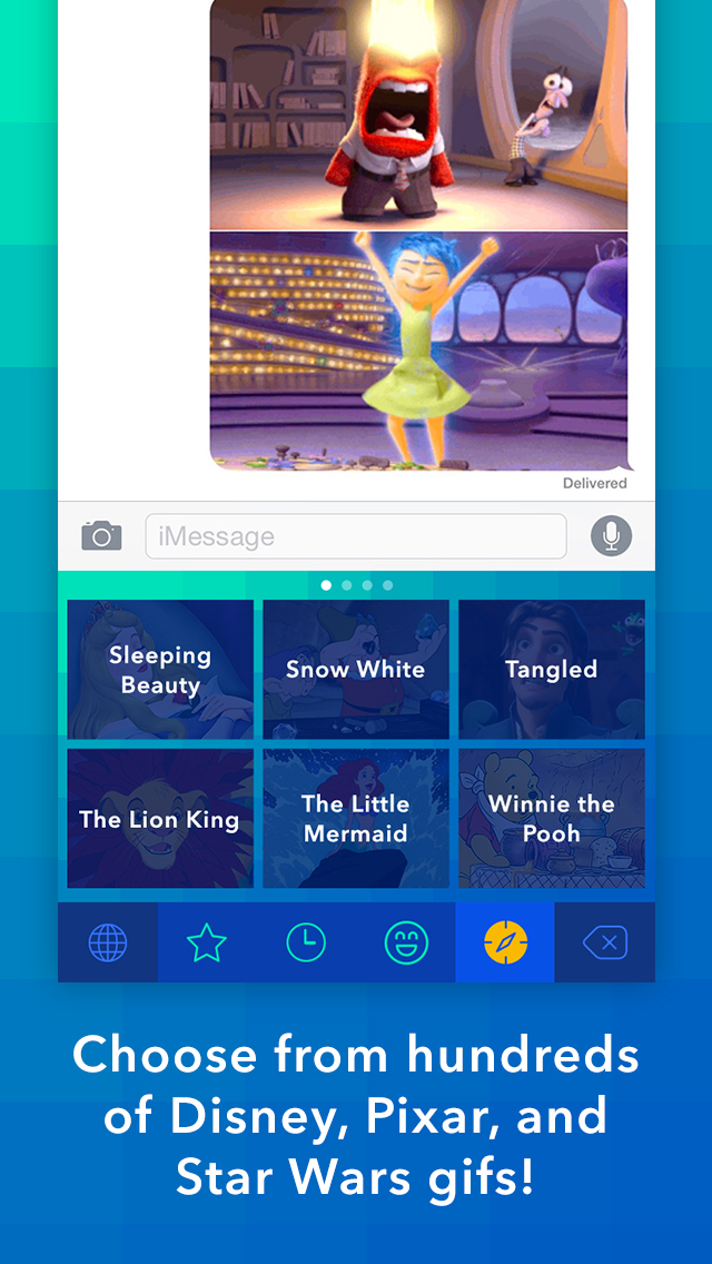 Disney Gif + Keyboard screenshot 1