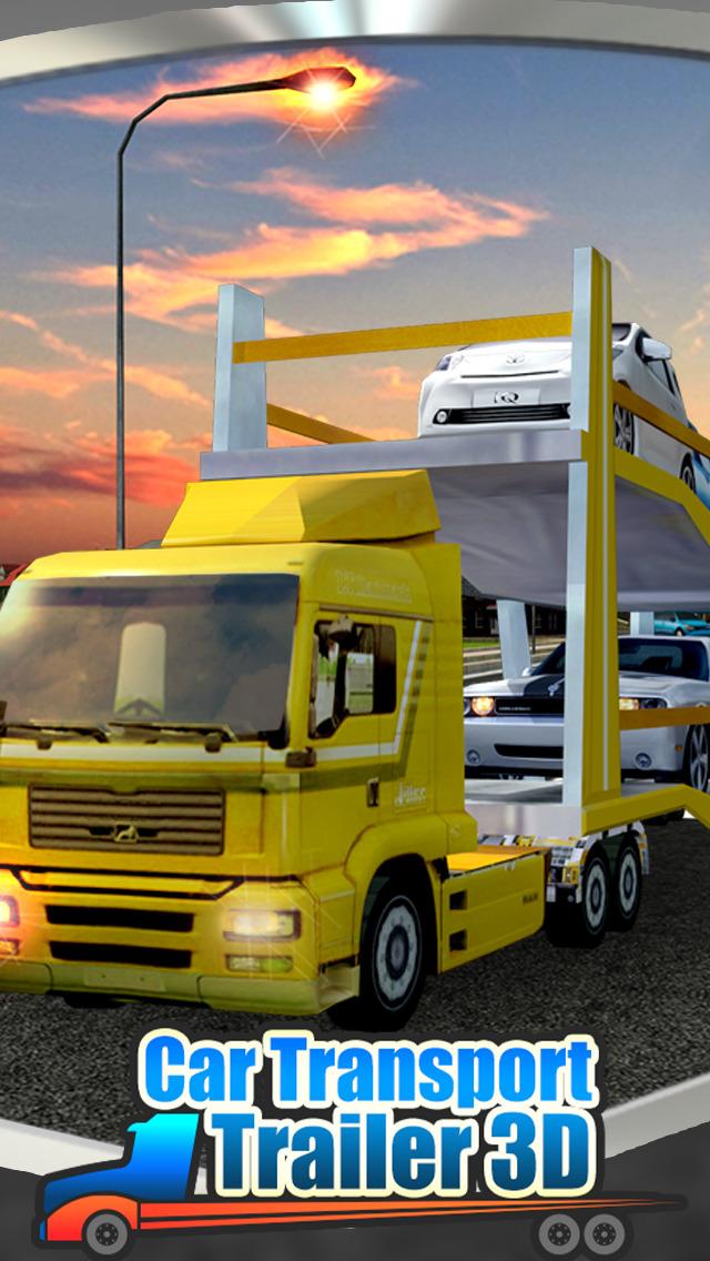 Car Transport Trailer 3D screenshot 1