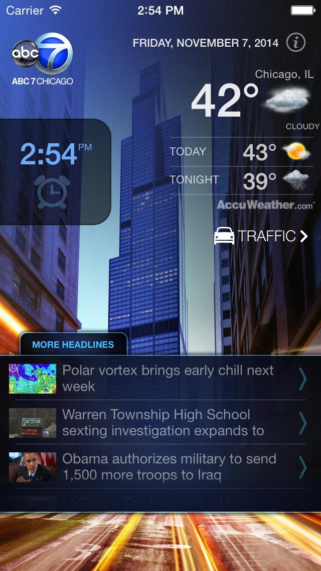 ABC7 Chicago Alarm Clock screenshot 1