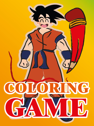Coloring Game for Goku & Friends (Dragon Ball Z Ve - náhled