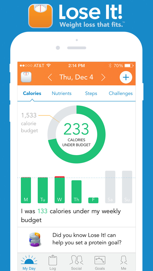 Lose It! – Calorie Counter screenshot 1
