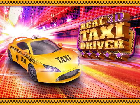 Real Taxi Driver 3D: Crazy Cab City Rush - Free Car Racing Games screenshot 6