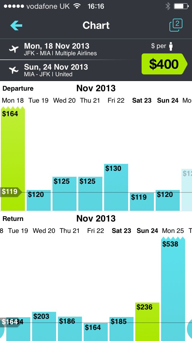 Skyscanner – travel deals screenshot 2