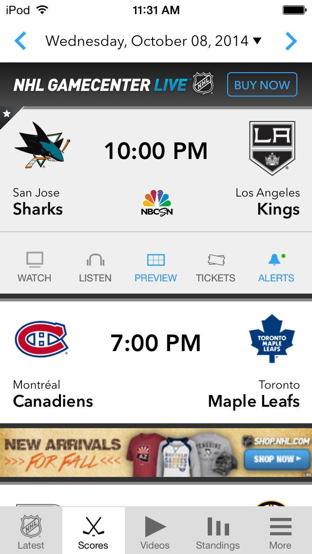 NHL screenshot 3