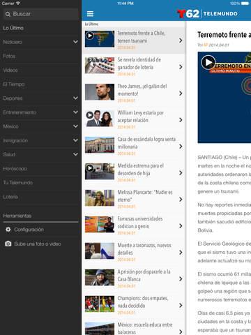 Telemundo62 screenshot 7