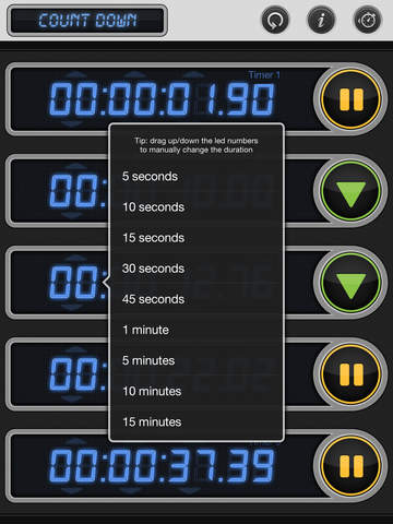 Stopwatch & Timer: Pro Multiple Count Down/Up screenshot #4