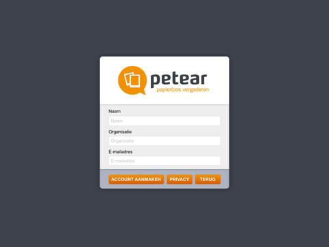 Petear App - náhled