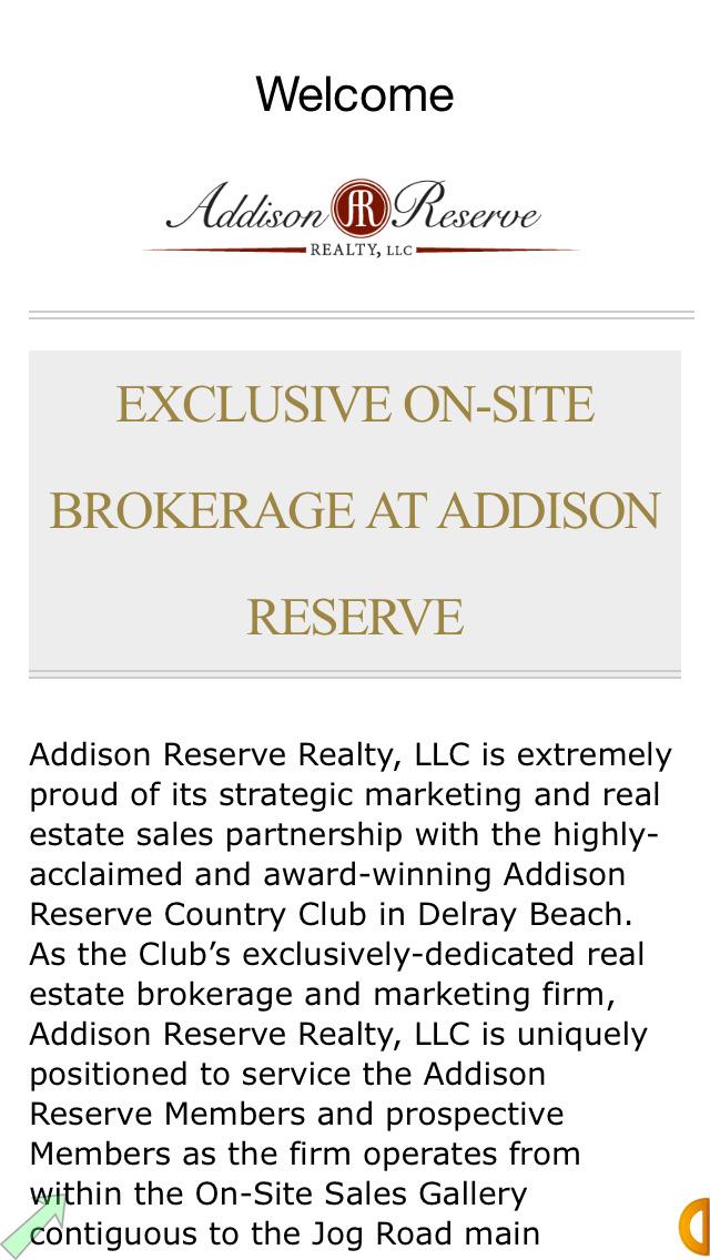 Addison Reserve Realty, LLC screenshot 2