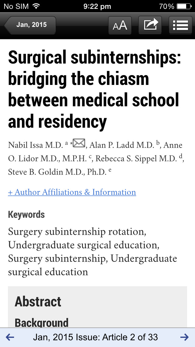 American Journal of Surgery screenshot 3