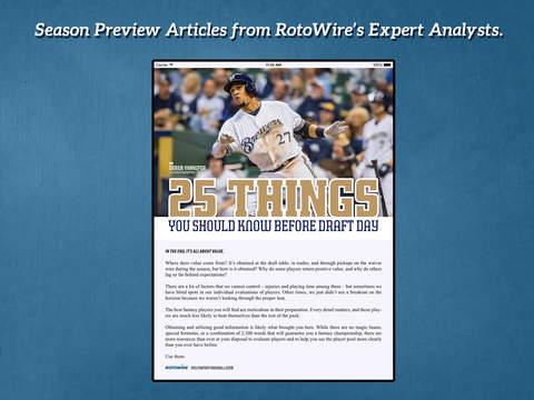 RotoWire Fantasy Baseball Guide 2015 screenshot 2