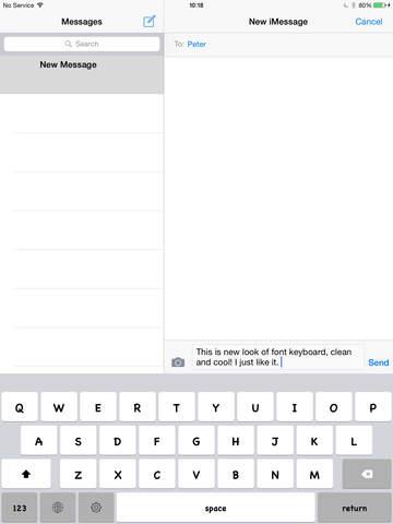 Keyboard of Chalkboard SE Font: Artistic Style Keys for iOS 8 screenshot 2