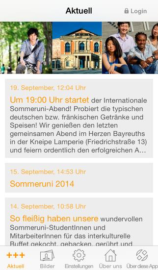 Sommeruniversität Bayreuth screenshot 1