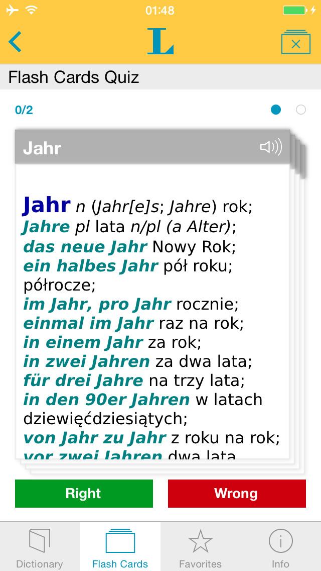 Słownik Premium polsko <-> niemiecki screenshot 3