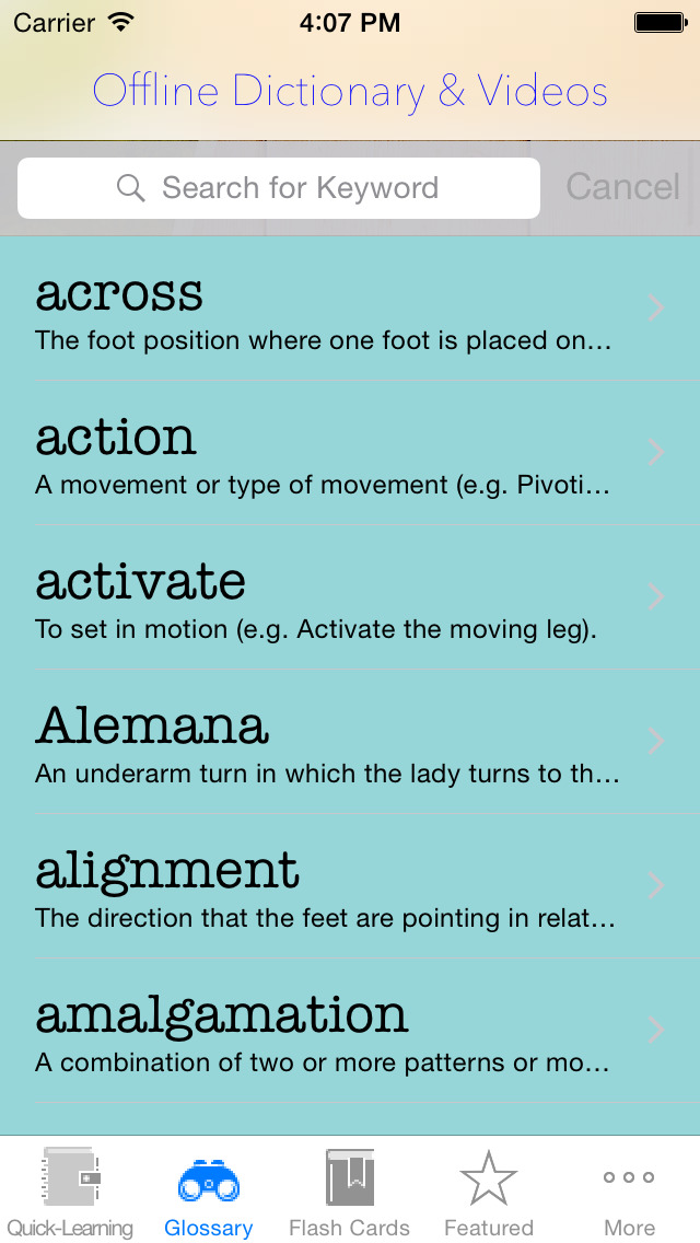 Dancing Guide: Free Video Lessons & Dancing Moves Graphics, with Dancing Glossary screenshot 4