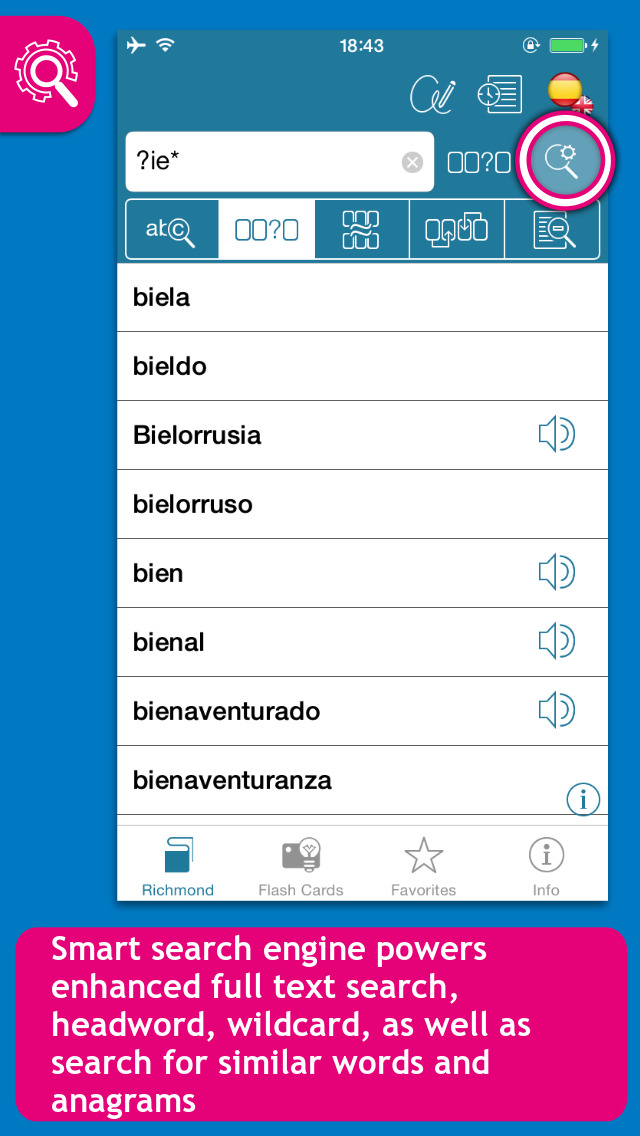English <-> Spanish Richmond Compact  Dictionary screenshot 2
