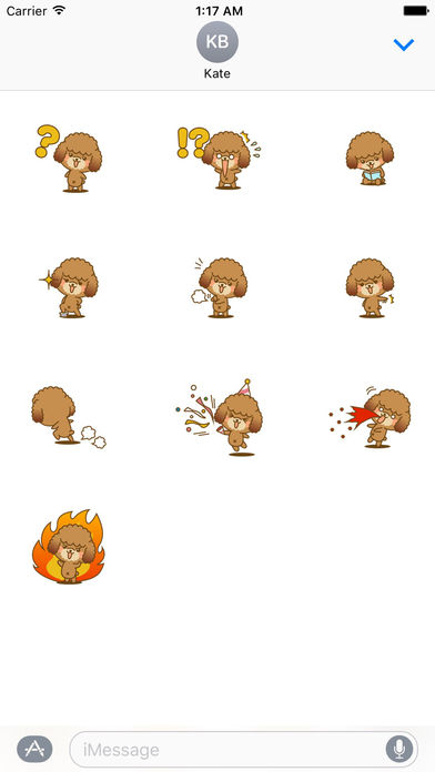Lovely Toy Poodle Dog Stickers Pack screenshot 3
