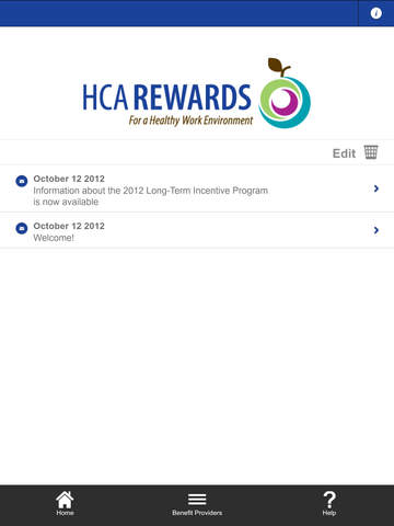 HCA Rewards for iPad - náhled