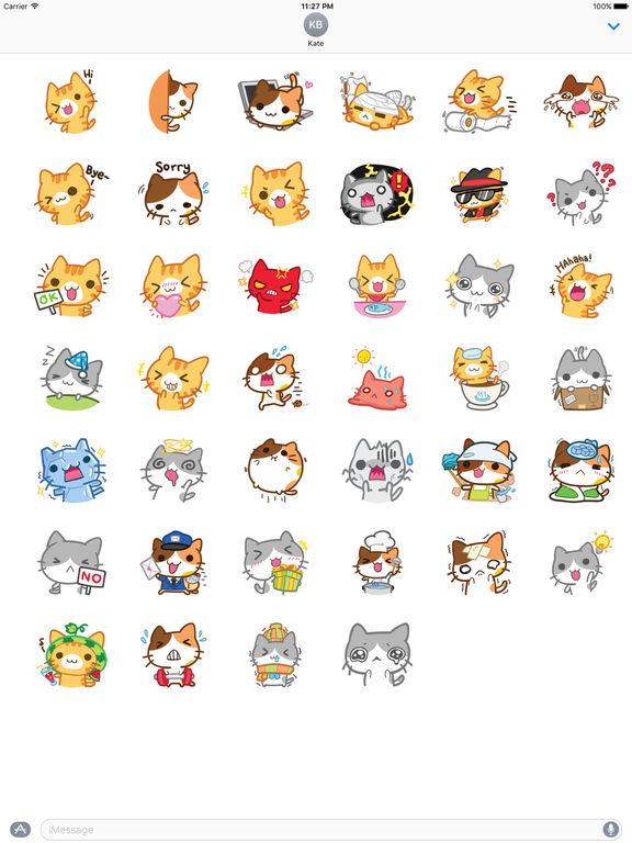 Cute Kitty Stickers screenshot 4