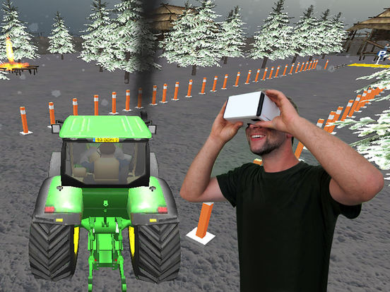 VR Farming Tractor Parking Driver - More Village screenshot 6