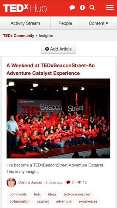 TEDxHub screenshot 3