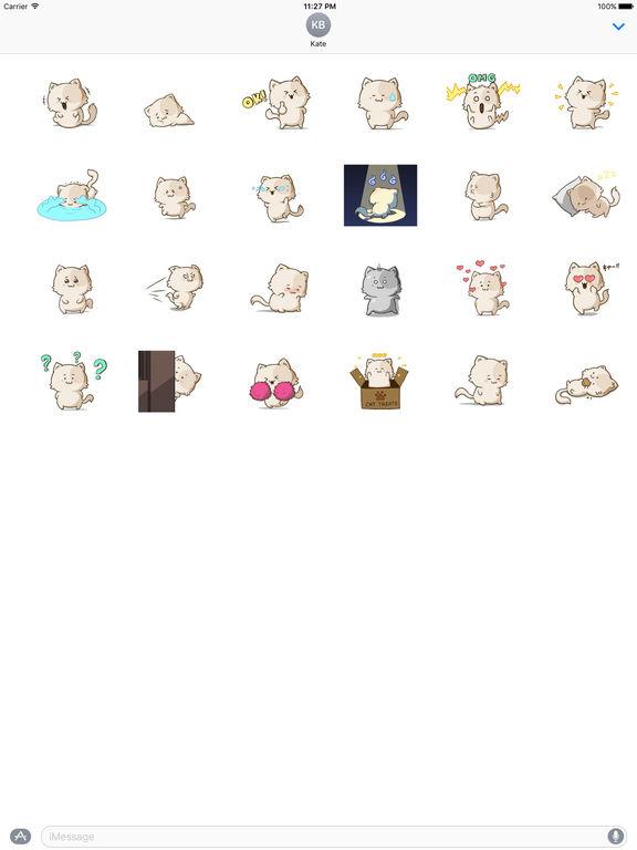 Cute Chubby Cat Stickers screenshot 3