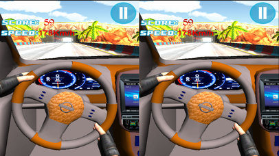 VR Fast Car Race : Extreme EndLess Driving 3d game screenshot 1