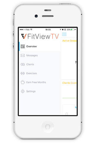 The FitView App - náhled