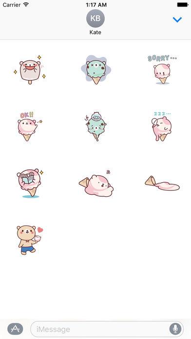 Cute Ice Cream Stickers Pack screenshot 3
