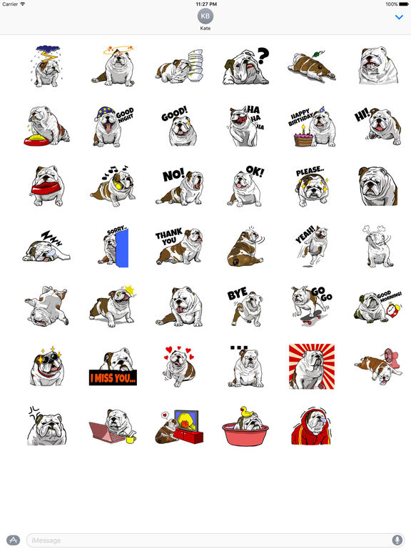 The English Bull Dog Stickers screenshot 4