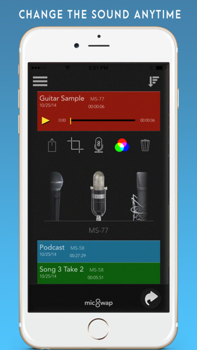 iphone recording app micswap microphone emulator amp recorder on the app 12178