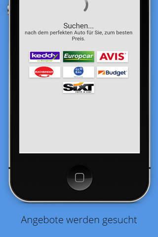 Mietwagen App - náhled