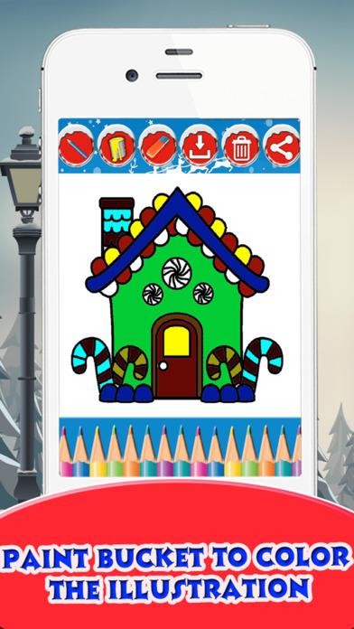 Christmas House Coloring Book screenshot 4