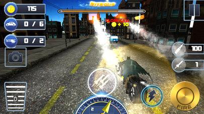 3D Highway Bat Racer : A Kids Super Hero Rider screenshot 1