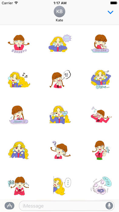 Two Adorable Teenage Girls Stickers screenshot 2
