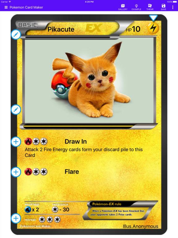 Card Maker Creator for Pokemon screenshot 6