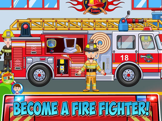 My Town : Fire station Rescue screenshot 8