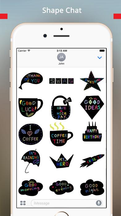 StiPia - BlackChat Stickers screenshot 3