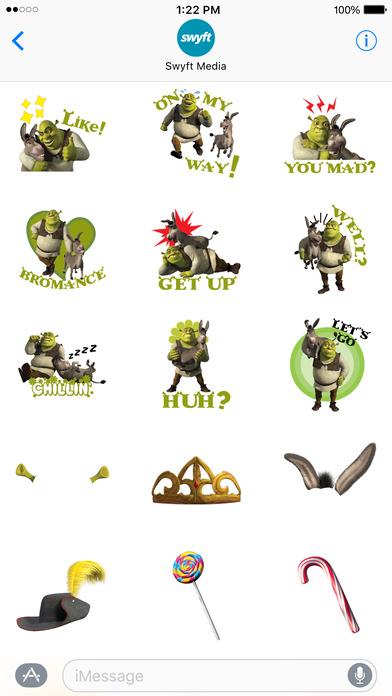 Shrek Movie Stickers screenshot 3