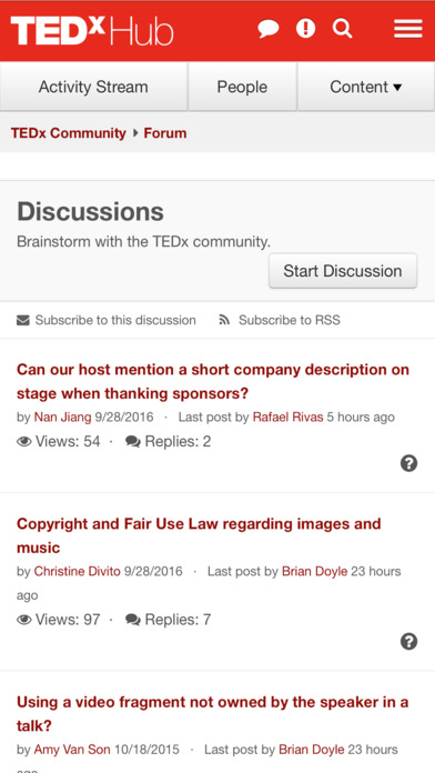 TEDxHub screenshot 2