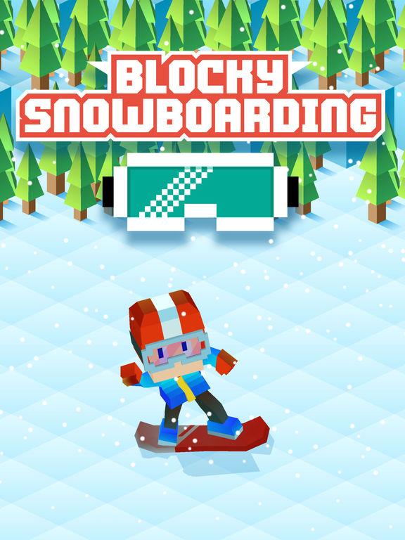 Blocky Snowboarding screenshot 6