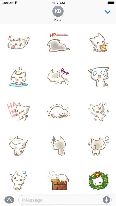 Christmas Of Cute Cat Stickers screenshot 2