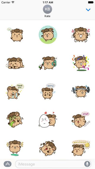 Cute Aries Zodiac Sticker screenshot 1