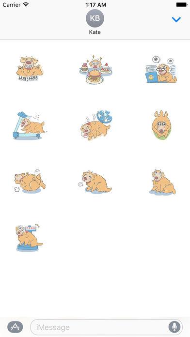 Fluffy Golden Retriever Stickers screenshot 3