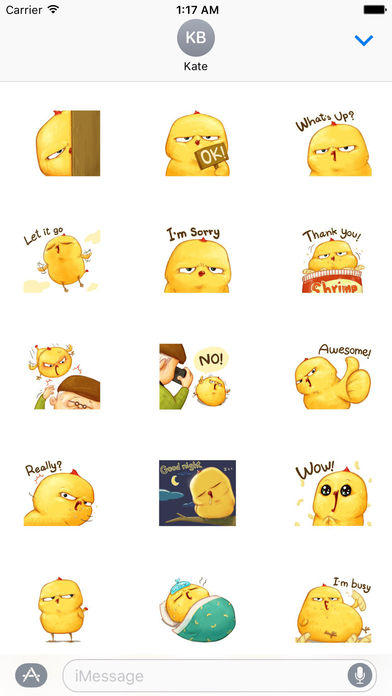 Cute Chicken Stickers screenshot 1