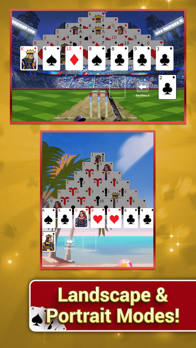 Pyramid Solitaire with Themes screenshot 3